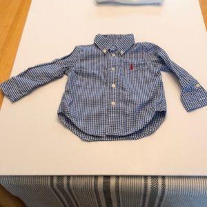 Polo baby button up check shirt